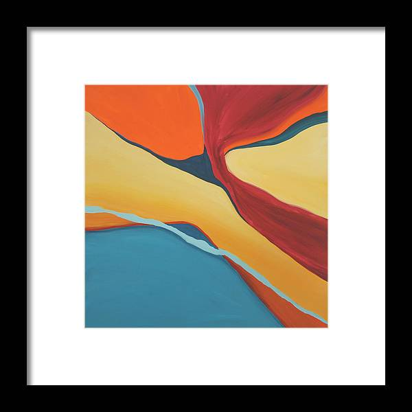 Abstract Framed Print featuring the painting Soaring by Marilyn Fenn