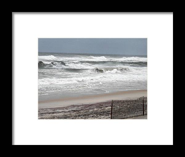 Sandy Framed Print featuring the photograph Socked By Sandy by Kimberly Perry