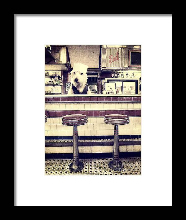 Diner Framed Print featuring the photograph Soda Jerk by Edward Fielding