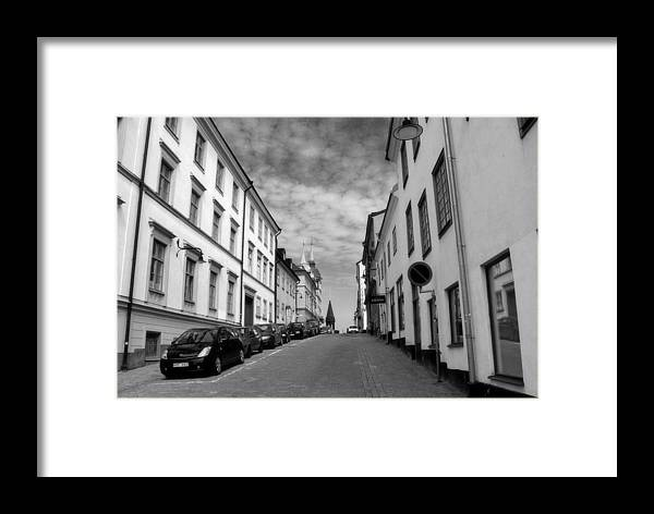 Sweden Framed Print featuring the photograph Sodermalm Sweden by Jim McCullaugh