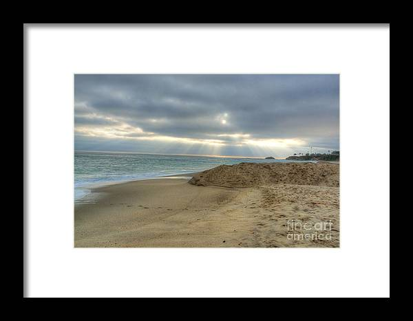 Huntington Framed Print featuring the photograph Soft California Sunset by Deborah Smolinske