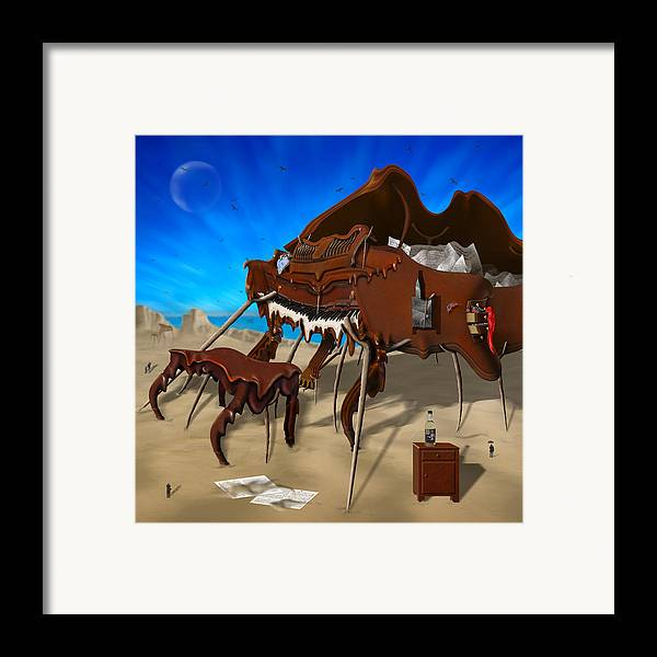 Surrealism Framed Print featuring the photograph Soft Grand Piano Se 2 by Mike McGlothlen