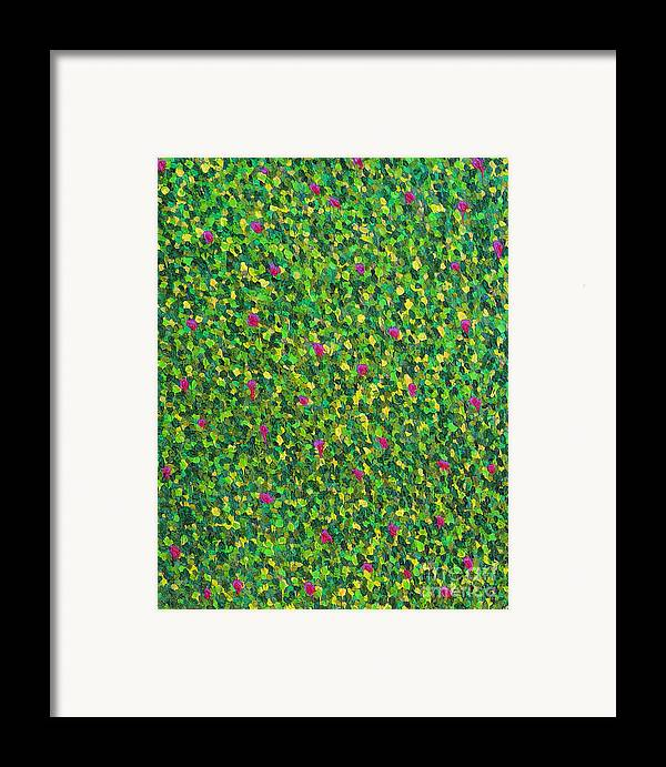 Abstract Framed Print featuring the painting Soft Green With Pink by Dean Triolo