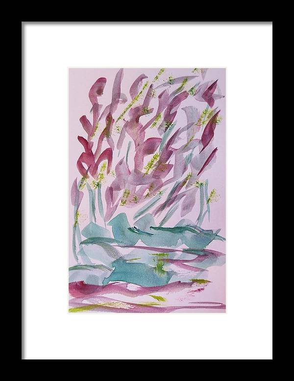Framed Print featuring the painting Softly by Cindy Lawson-Kester