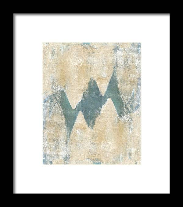Monoprint Framed Print featuring the mixed media Softly Green 2 by Carol Leigh