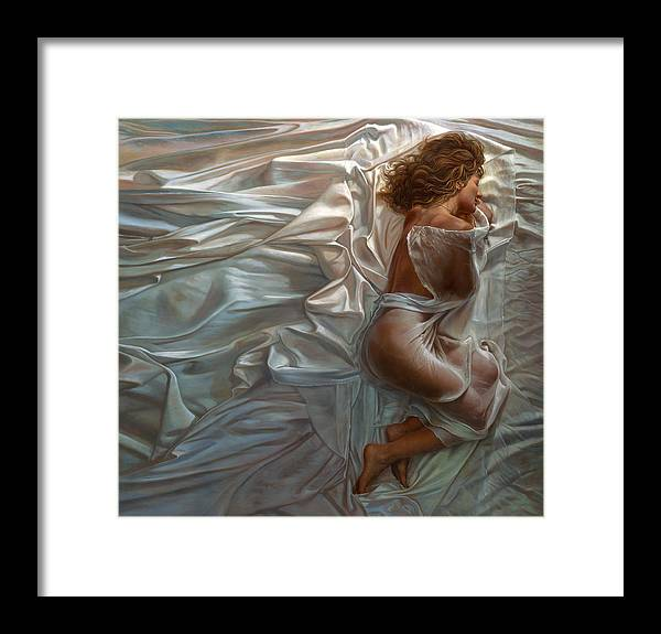 Portrait Framed Print featuring the painting Sogni Dolci by Mia Tavonatti