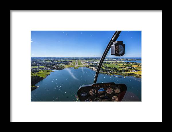 Water's Edge Framed Print featuring the photograph Sola And Sola Airport, Aerial Shot by Sindre Ellingsen