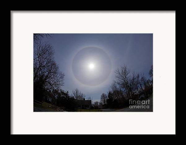 Science Framed Print featuring the photograph Solar Halo by Chris Cook