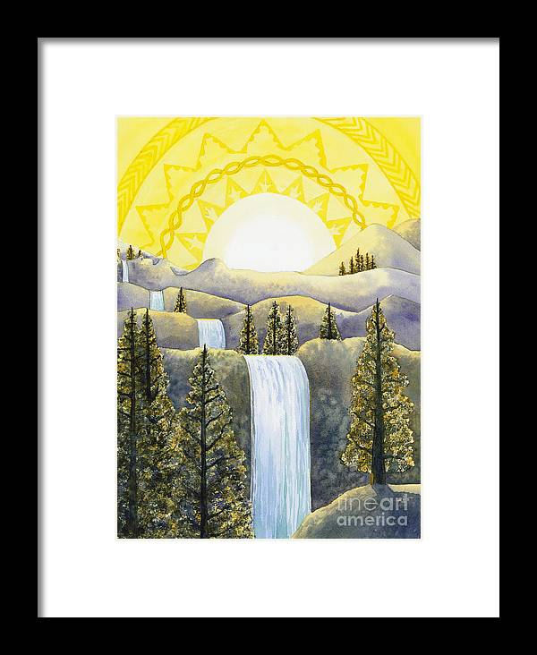 Power Framed Print featuring the painting Solar Plexus Chakra by Catherine G McElroy