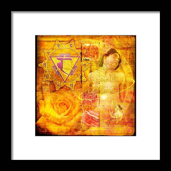 Solar Plexus Chakra Framed Print By Mark Preston