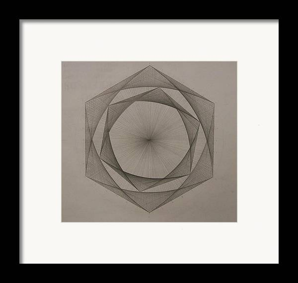 Fractal Framed Print featuring the drawing Solar Spiraling by Jason Padgett