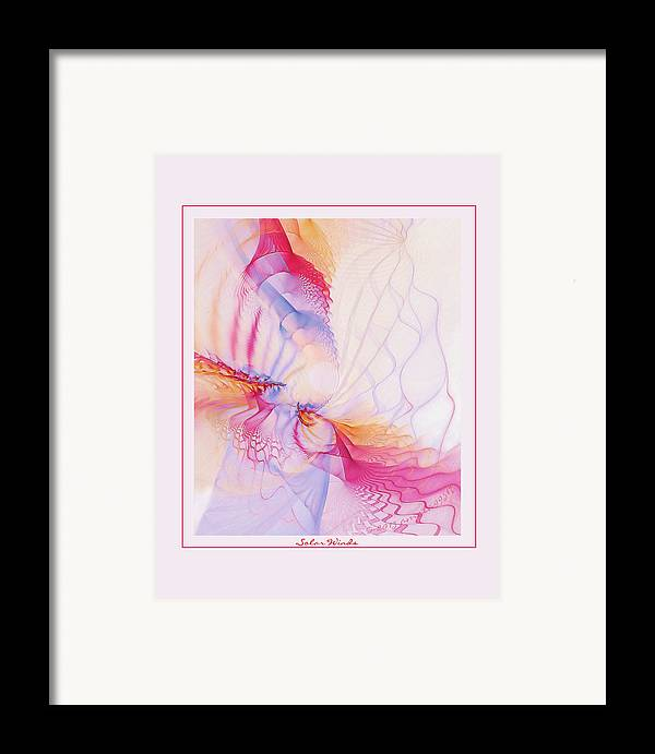Fractal Framed Print featuring the digital art Solar Winds by Gayle Odsather