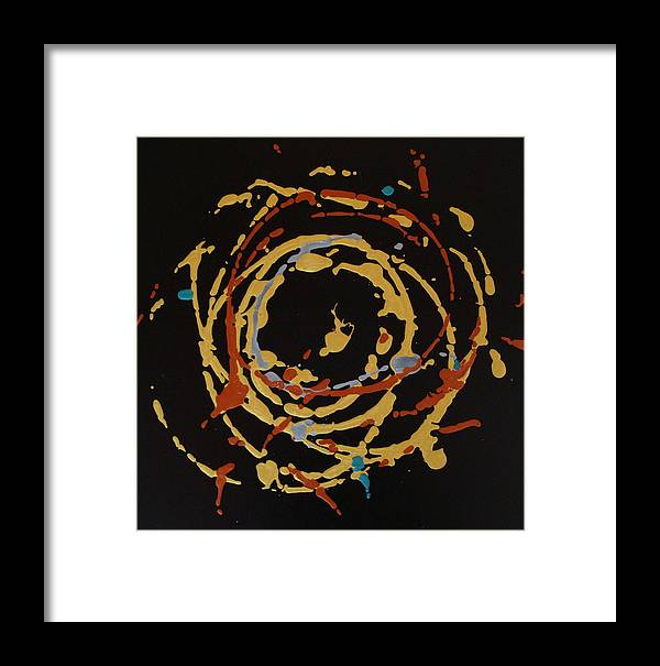 Abstract Framed Print featuring the painting Solaris by Holly Picano