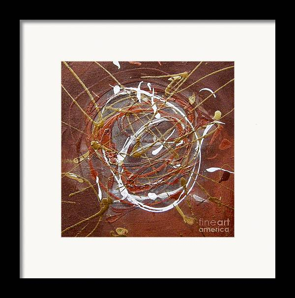 Bronze Framed Print featuring the painting Solaris One by Holly Picano
