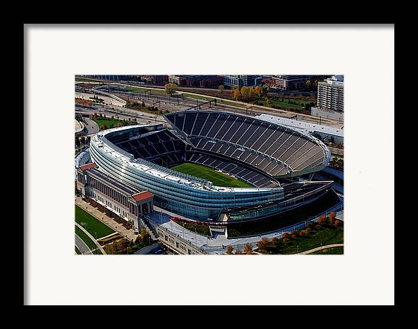 Soldier Field Framed Print featuring the photograph Soldier Field Chicago Sports 06 by Thomas Woolworth