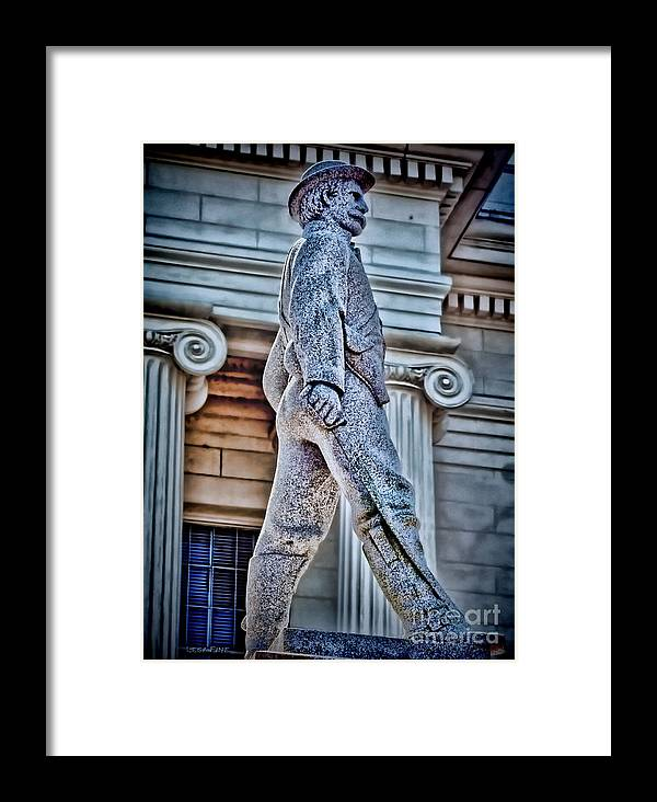 Confederate Framed Print featuring the photograph Soldier Statue Hdr Alabama State Capitol by Lesa Fine