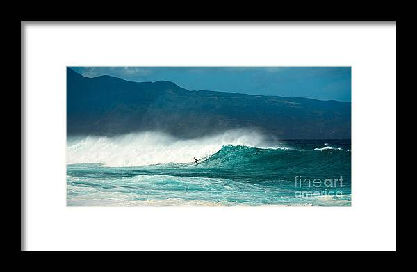 Hookipa Beach Framed Print featuring the photograph Sole Surfer by Jamie Pham