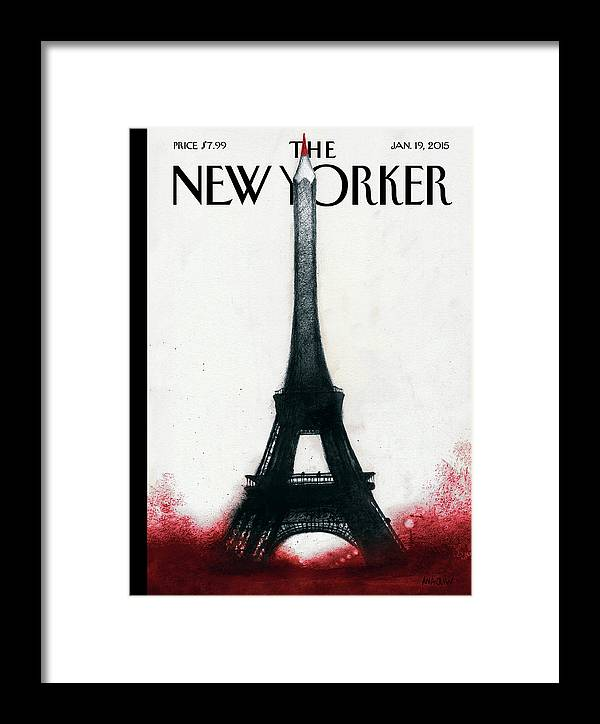 Charlie Hebdo Framed Print featuring the painting Solidarite by Ana Juan