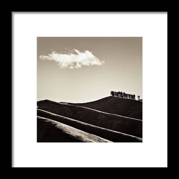 New Zealand Framed Print featuring the photograph Solitary Cloud by Dave Bowman