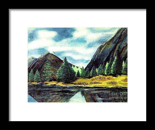 Fine Art Framed Print featuring the painting Solitude by Patricia Griffin Brett