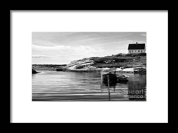 Boats Framed Print featuring the photograph Solitude by Shaun White