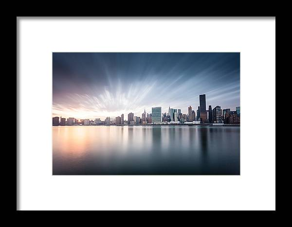 New York City Framed Print featuring the photograph Solstice Skies by Tim Drivas