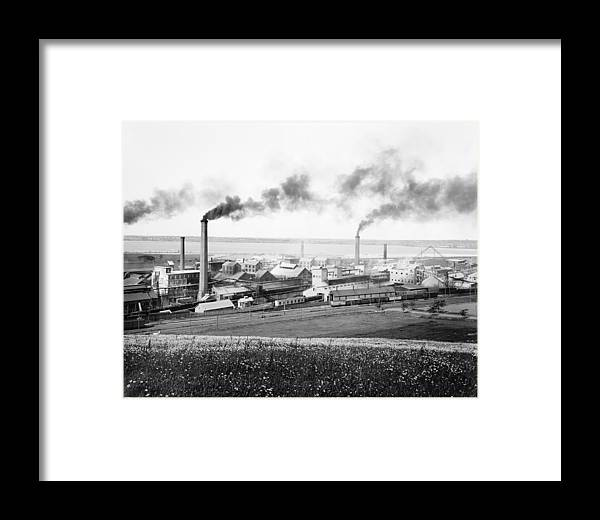 Solvay Process Company Factory, 1890s Framed Print by Science Photo ...