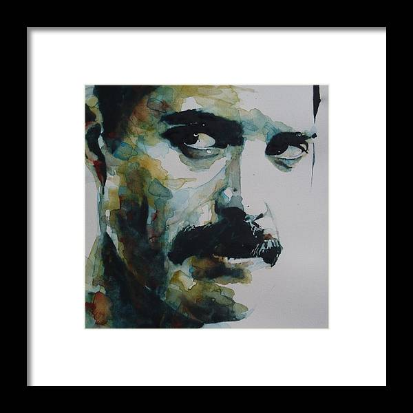 Queen Framed Print featuring the painting Freddie Mercury by Paul Lovering