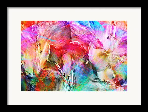 Large Abstract Framed Print featuring the painting Somebody's Smiling - Abstract Art by Jaison Cianelli
