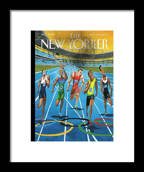 Olympics Framed Print featuring the painting Something In The Air by Mark Ulriksen