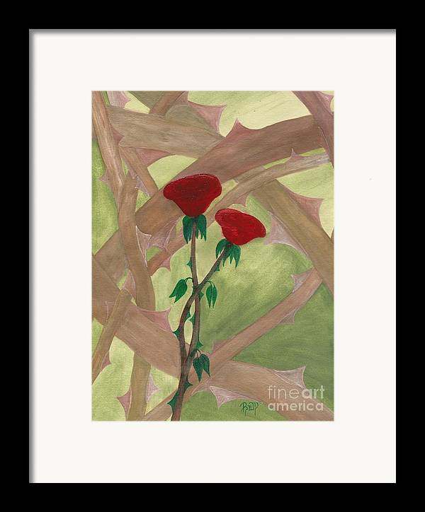 Roses Framed Print featuring the painting Something Simple by Robert Meszaros