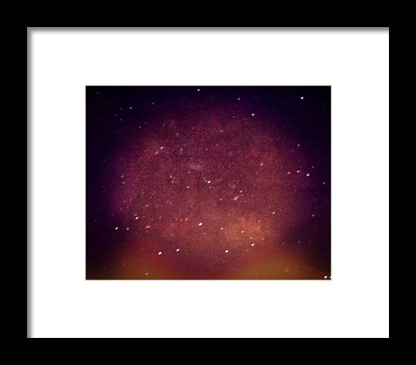 Supernove Framed Print featuring the photograph Sometimes We Imagine Supernovas. They Might Happen. by Carolina Liechtenstein