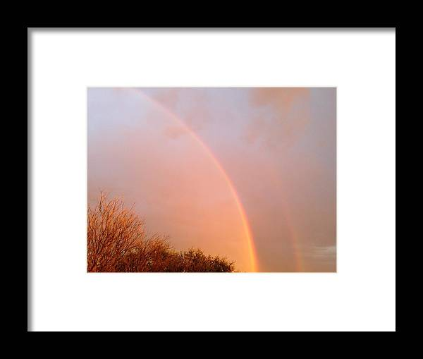 Rainbow Framed Print featuring the photograph Somewhere Over The Rainbow by Shawn Hughes