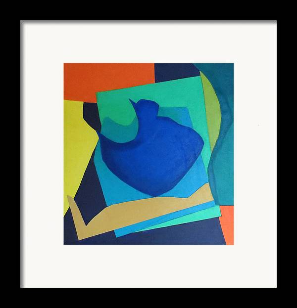 Abstract Expressionism Framed Print featuring the mixed media Sonata by Diane Fine