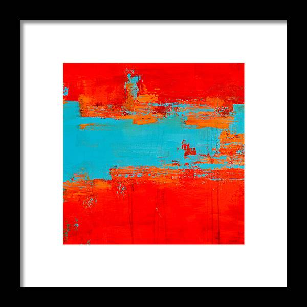 Acrylic On Canvas Framed Print featuring the painting Sonoran Sunset 2 by Charlen Williamson