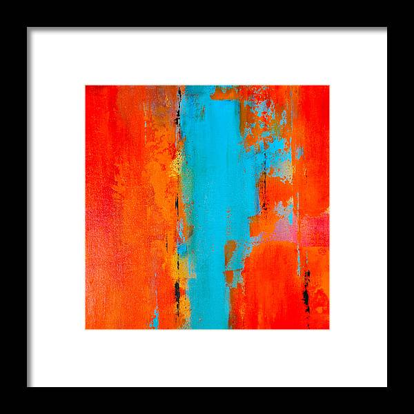 Sunset Framed Print featuring the painting Sonoran Sunset 3 by Charlen Williamson