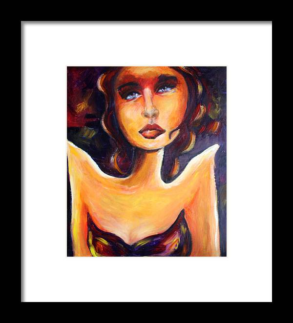 Acrylic Framed Print featuring the painting Sophie by Hope Mastroianni