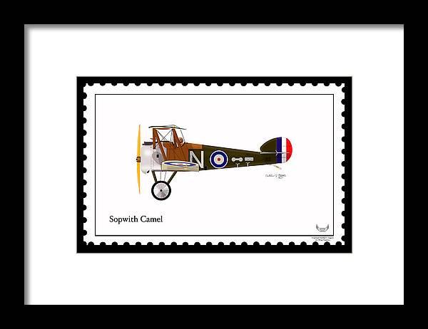 Sopwith Camel Framed Print featuring the digital art Sopwith Camel by Arthur Eggers