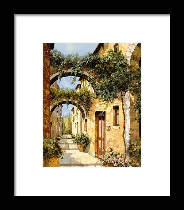 Arch Framed Print featuring the painting Sotto Gli Archi by Guido Borelli
