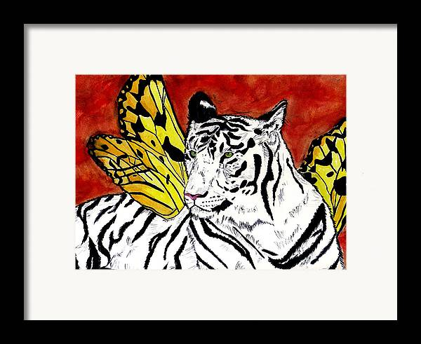 Tiger Framed Print featuring the painting Soul Rhapsody by Crystal Hubbard