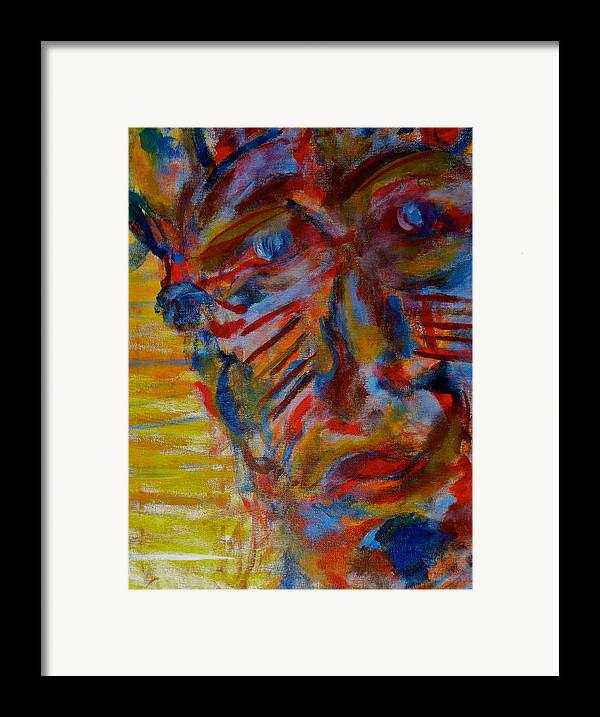Portrait Framed Print featuring the painting Soul Searching by Abram Freitas