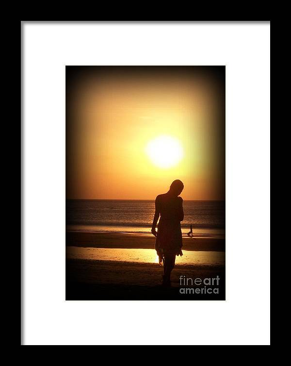 Silhouette Framed Print featuring the photograph Soulset by Anam Cara Cat
