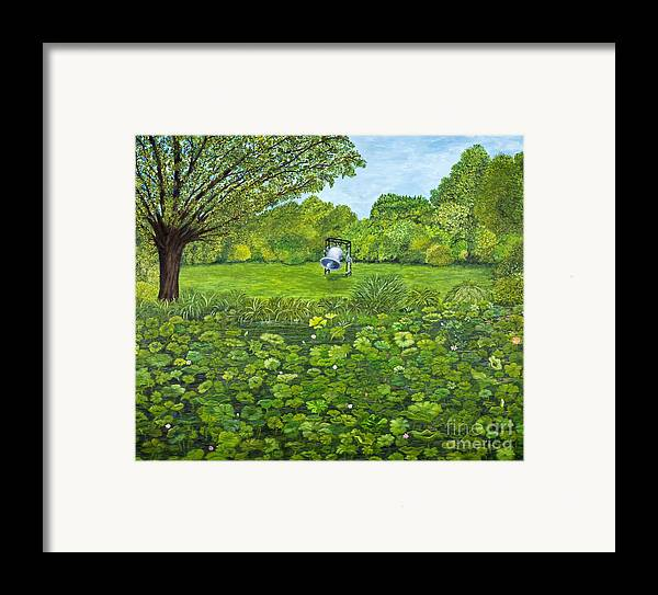Pond Framed Print featuring the painting Sound Of Nature By Kevin Davis by Sheldon Kralstein