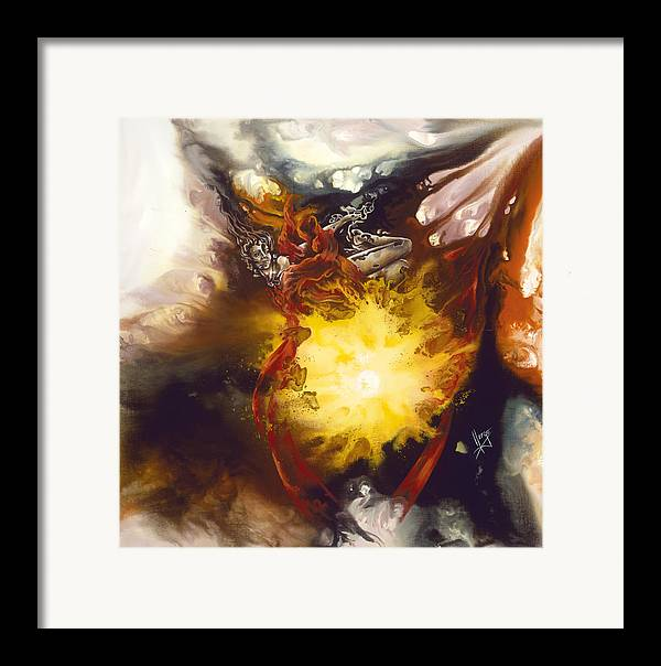 Source Of Strenght Framed Print featuring the painting Source Of Strength by Karina Llergo