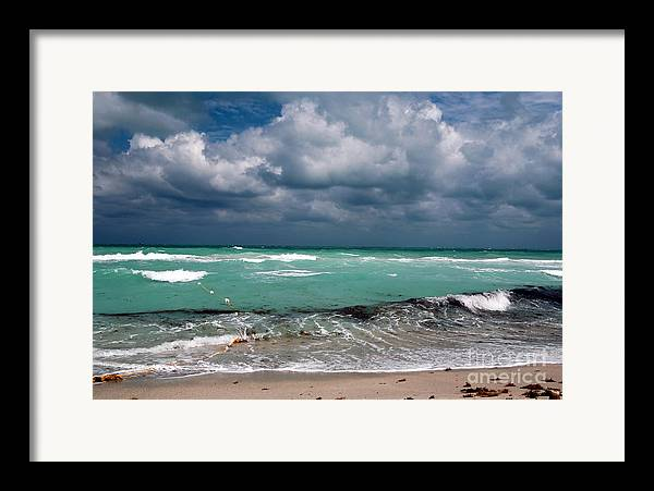 South Beach Storm Clouds Framed Print featuring the photograph South Beach Storm Clouds by John Rizzuto