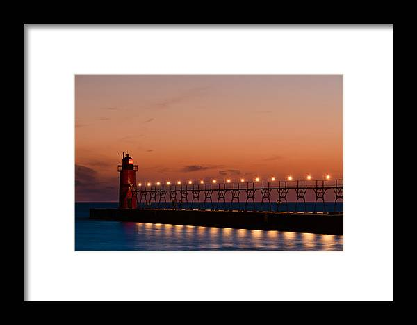 Architecture Framed Print featuring the photograph South Haven Reflection by Sebastian Musial