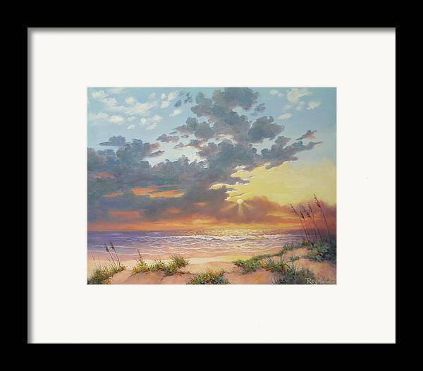 Seascape Framed Print featuring the painting South Padre Island Splendor by Carol Reynolds