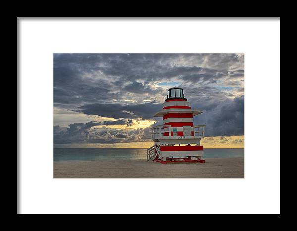 Usa Framed Print featuring the photograph South Pointe Park Lighthouse by Claudia Domenig