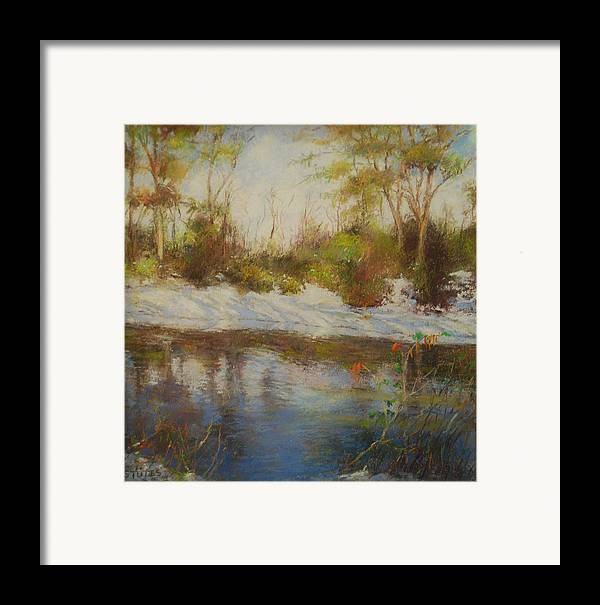 Landscapes Framed Print featuring the pastel Southern Landscapes  by Nancy Stutes