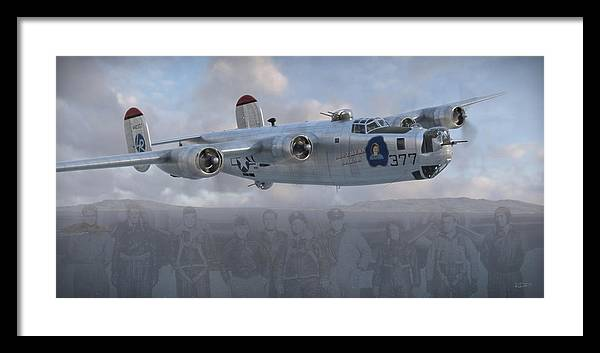 B-24 Framed Print featuring the digital art Southern Sarah by Robert Perry